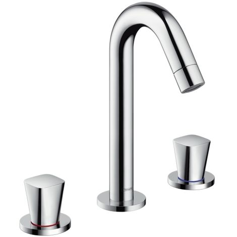 Hansgrohe Logis 3-hole basin mixer 150 with pop-up waste set (71133000)
