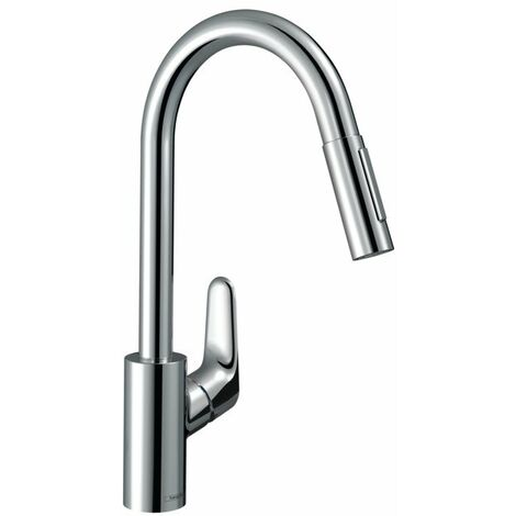 Hansgrohe M41 deck mounted Kitchen Mixer 240 Pull Out Spray Chrome