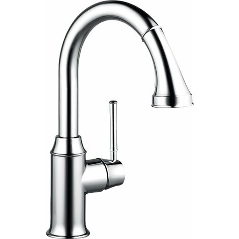 Hansgrohe M53 single-lever kitchen mixer 210, pull-out shower, 2jet, sBox, chrome - 73871000