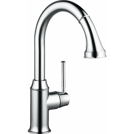 Hansgrohe M53 single-lever kitchen mixer 240, pull-out shower, 2jet, sBox, chrome - 73870000