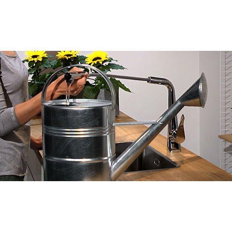 Hansgrohe Metris M71 Single lever kitchen mixer 320, pull-out spout, 1jet