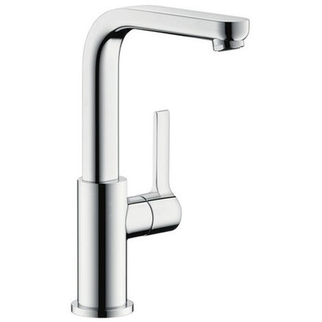 Hansgrohe Metris S Single lever basin mixer 230 with swivel spout and push-open waste set (31161000)