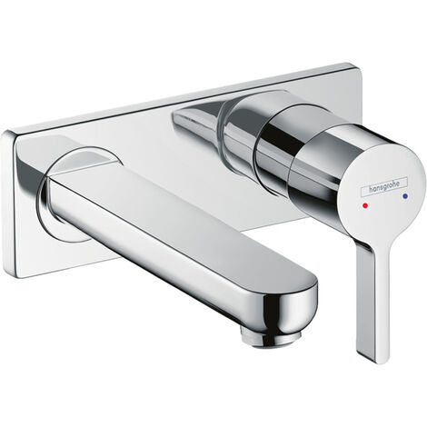 Hansgrohe Metris S Single lever basin mixer for concealed installation wall-mounted with spout 16.5 cm (31162000)