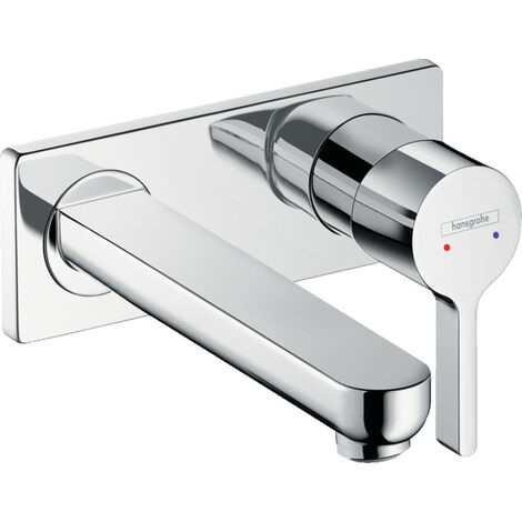 Hansgrohe Metris S Single lever basin mixer for concealed installation wall-mounted with spout 22.5 cm (31163000)