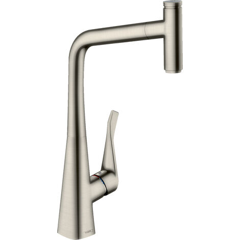 Hansgrohe Metris Select Single lever kitchen mixer 320 with pull-out spout (14884800)