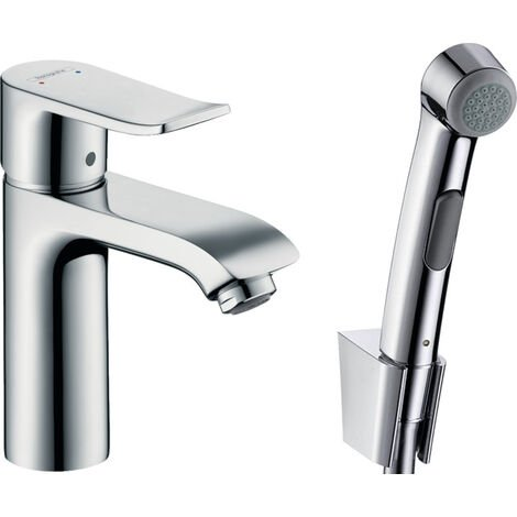 Hansgrohe Metris Single lever basin mixer with bidette hand shower and shower hose 160 cm (31285000)