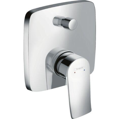 Hansgrohe Metris single-lever bath mixer flush-mounted 31454000 square, fuse combination - 31451000