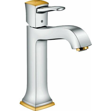 Hansgrohe Metropol Classic Einhebel-Waschtischmischer 160, Hebelgriff, Zugstangen-Ablaufgarnitur, für Waschschüsseln - 31302090
