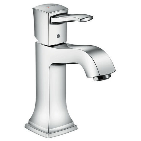 Hansgrohe Metropol Classic Single lever basin mixer 110 with lever handle and pop-up waste set, Chrome (31300000)