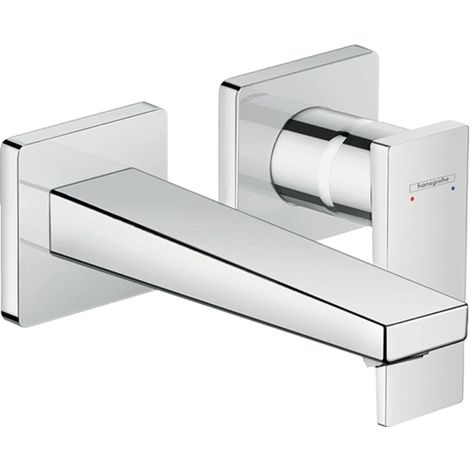 Hansgrohe Metropol flush-mounted single-lever basin mixer, lever handle, 165mm projection, wall mounting - 32525000