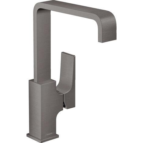 Hansgrohe Metropol Mitigeur de lavabo 230 poignée manette, bonde Push-Open, Noir Chromé brossé (32511340)
