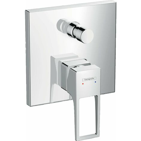 Hansgrohe Metropol Mitigeur monocommande pour bain/douche encastré avec poignée étrier et combinaison de sécurité intégrée (74546000)
