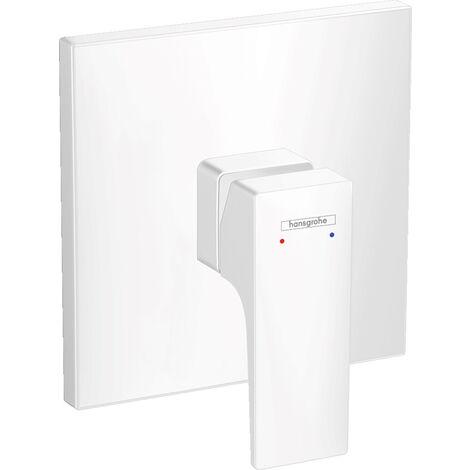 Hansgrohe Metropol Set de finition pour mitigeur douche encastré, poignée manette, Blanc mat (32565700)