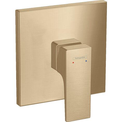 Hansgrohe Metropol Set de finition pour mitigeur douche encastré, poignée manette, Bronze brossé (32565140)