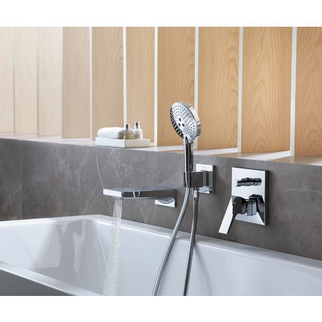 hansgrohe Metropol single-lever bath mixer concealed, lever handle, safety combination, colour: chrome - 32546000