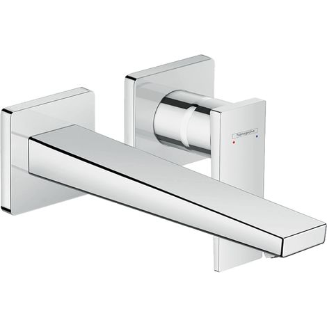 Hansgrohe Metropol single-lever concealed washbasin mixer, lever handle, 225mm projection, wall mounting, colour: chrome - 32526000