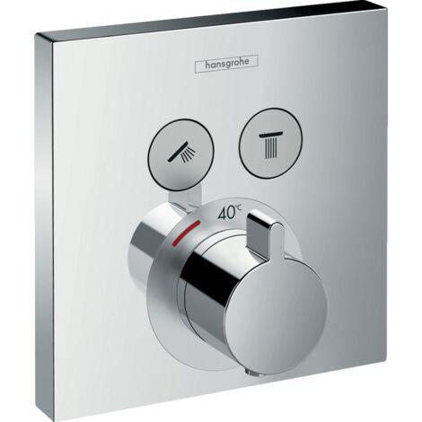 Hansgrohe Mezclador termostato empotrado para 2 funciones ShowerSelect 15763000   Cromado