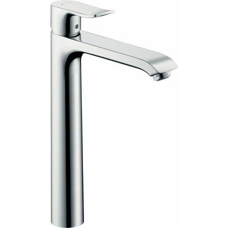 HANSGROHE Mitigeur de lavabo 260 surélevé pour vasque libre, avec tirette et vidage chromé Metris