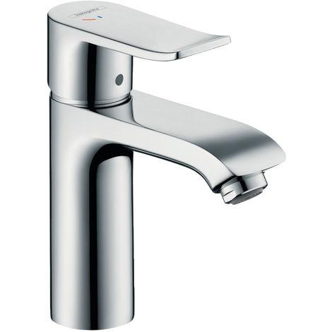 Hansgrohe Mitigeur lavabo avec garniture de vidage, Metris 110 CoolStart chrome