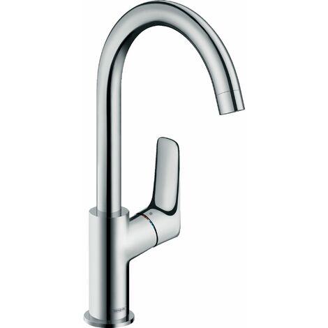 HANSGROHE Mitigeur lavabo Logis 210 bec orientable sur 120° sans tirette ni vidage chrome