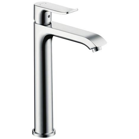 HANSGROHE Mitigeur lavabo Metris 200 pour vasque a poser sans tirette ni vidage chrome
