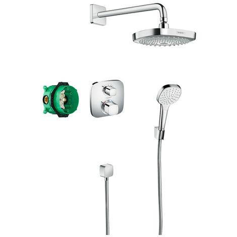 HANSGROHE Pack Design ShowerSet Croma Select E / Ecostat E chromé