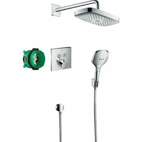 HANSGROHE Pack encastré avec mitigeur thermostatique ShowerSelect chromé Raindance Select