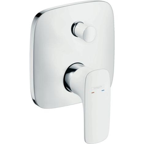 Hansgrohe - PuraVida Concealed Bath Shower Mixer - White Chrome