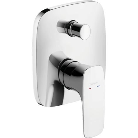 Hansgrohe PuraVida Single lever concealed bath mixer with integrated safety combination - 15447000