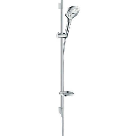 Hansgrohe Raindance Select E set de ducha 120 3jet con barra de ducha de 90 cm y jabonera, 26621, color: cromado - 26621000