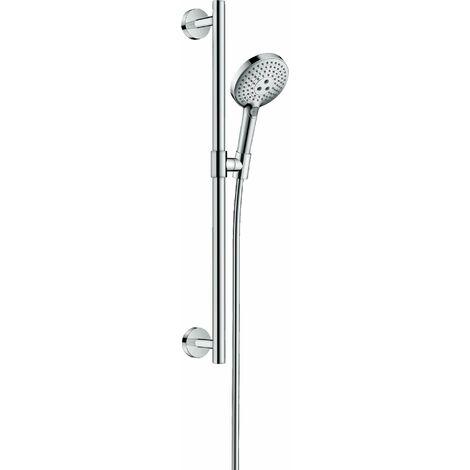 Hansgrohe Raindance Select S Ensemble de douche 120 3jet avec barre de douche 65 cm, 26320, Coloris: chrome - 26320000