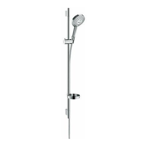 Hansgrohe Raindance Select S Ensemble de douche 120 3jet P avec barre de douche 90 cm, 27667000, chromé - 27667000