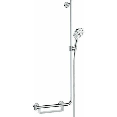 Hansgrohe Raindance Select S set de douche 120 3jet EcoSmart avec barre de douche 110 cm à droite, 26327, Coloris: chrome - 26327000