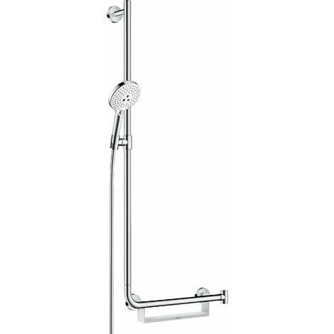 Hansgrohe Raindance Select S set de douche 120 3jet EcoSmart avec barre de douche 110 cm gauche, 26325, Coloris: chrome - 26325000