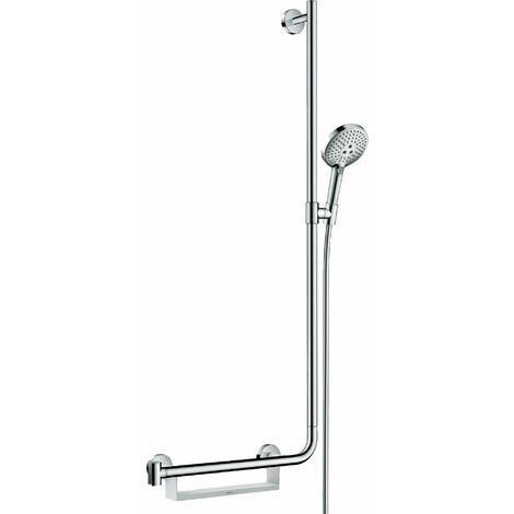 Hansgrohe Raindance Select S set de ducha 120 3jet EcoSmart con barra de ducha 110 cm derecha, 26327, color: cromado - 26327000
