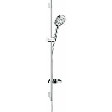 Hansgrohe Raindance Select S set de ducha 120 3jet EcoSmart con barra de ducha de 90 cm y jabonera, 26633, color: cromado - 26633000