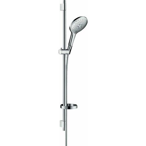 Hansgrohe Raindance Select S set de ducha 150 3jet con barra de ducha de 90 cm y jabonera, 27803, color: cromado - 27803000