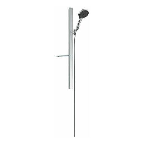 hansgrohe Rainfinity shower set 130 3jet con barra de ducha de 90 cm y jabonera, cromo - 27671000