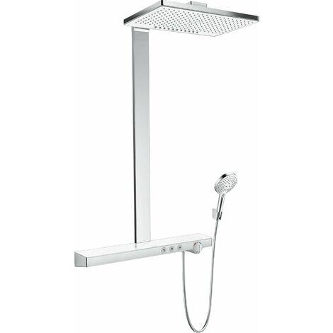 Hansgrohe Rainmaker Select 460 2jet con termostato, montaje en superficie, 3 consumidores, blanco/cromo - 27109400