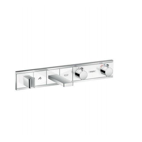 Hansgrohe RainSelect Module thermostatique Select bain/douche encastré, blanc/chromé (15359400)