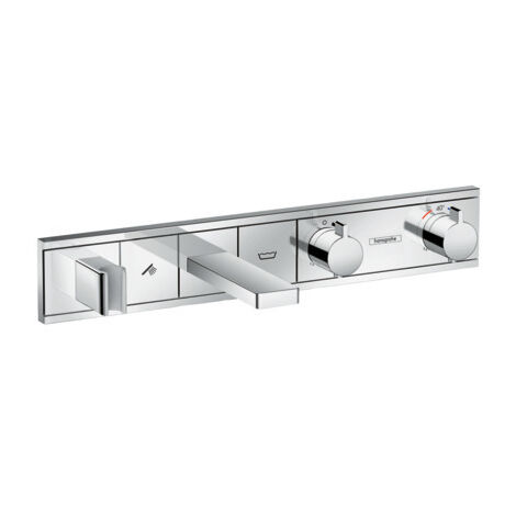 Hansgrohe RainSelect Thermostat for concealed installation for 2 functions bath tub, Chrome (15359000)