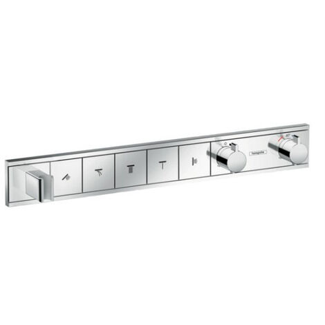 Hansgrohe RainSelect Thermostat for concealed installation for 5 functions with shower support, Chrome (15358000)