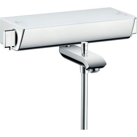 Hansgrohe Select Ecostat Termostato de baño de superficie, 13141, color: Cromado / Blanco - 13141400