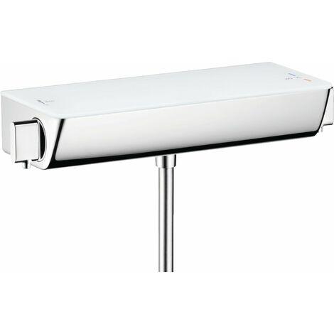 Hansgrohe Select Ecostat Termostato de ducha, montaje en superficie, 13161, color: Cromado / Blanco - 13161400