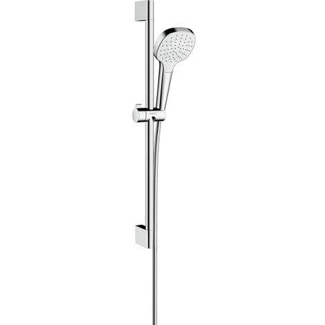 Hansgrohe Set Croma Select E 110 1jet EcoSmart / Unica'Croma 0,65m, blanc/chromé (26585400)