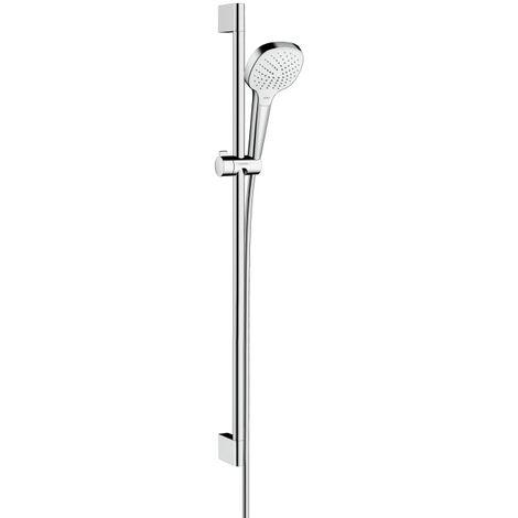 Hansgrohe Set Croma Select E 110 Vario EcoSmart / Unica'Croma 0,90m, blanc/chromé (26593400)
