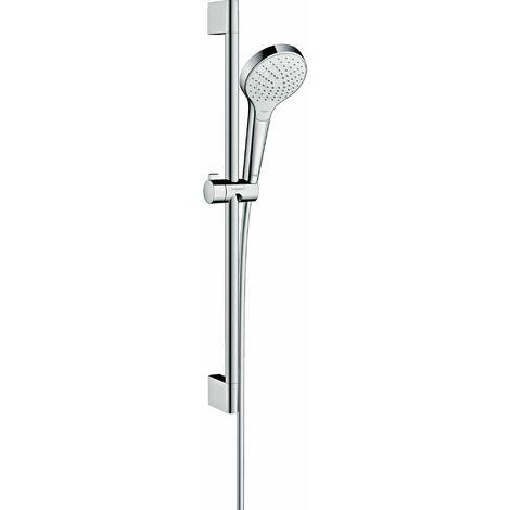 HANSGROHE Set de douche Vario EcoSmart avec barre Unica'Croma 65 cm blanc/chromé Croma Select