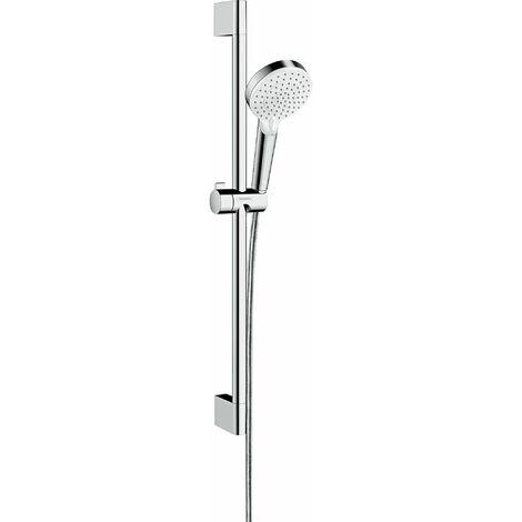 HANSGROHE Set de douche Vario EcoSmart avec barre Unica'Croma 65 cm blanc/chromé Crometta