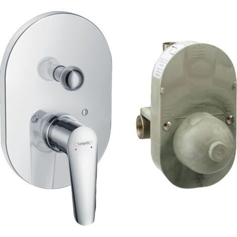 Hansgrohe Set Mezclador para bañera empotrado Logis E 71408000 | Cromado