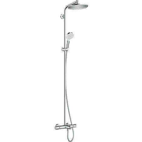 HANSGROHE Showerpipe 240 1jet avec mitigeur baignoire chromé Crometta S